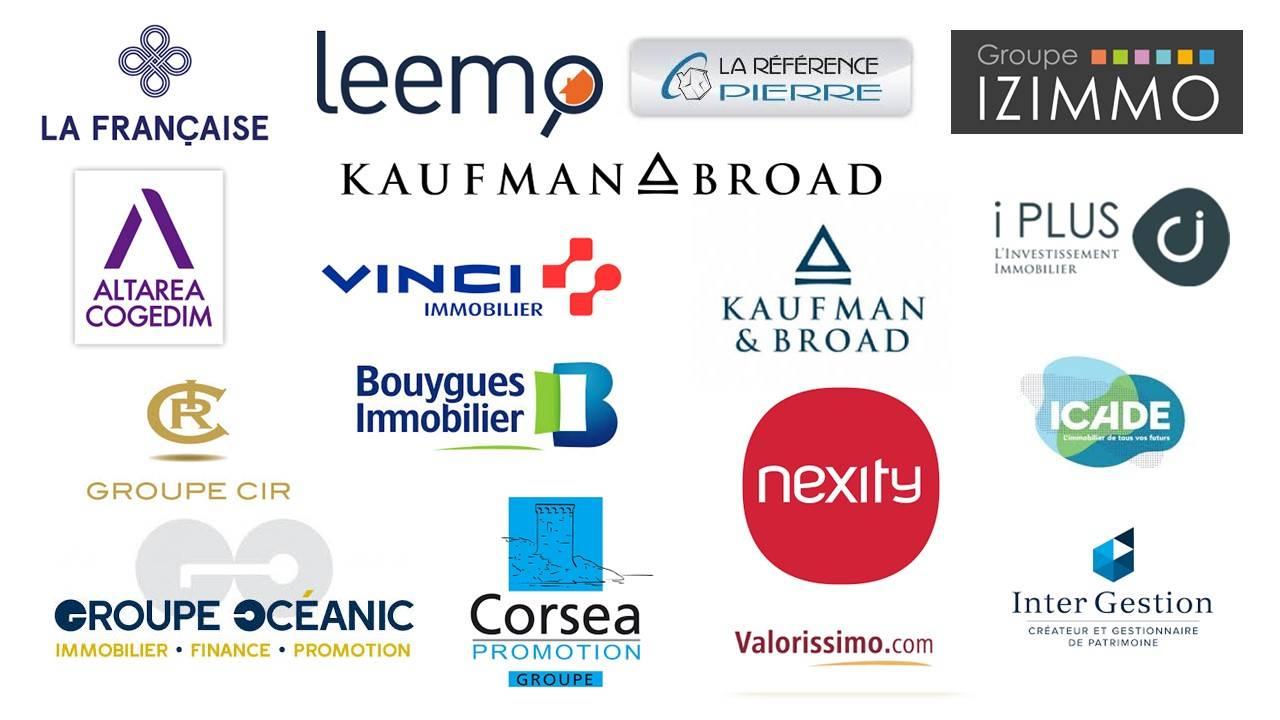 Logo des partenaires en immobilier